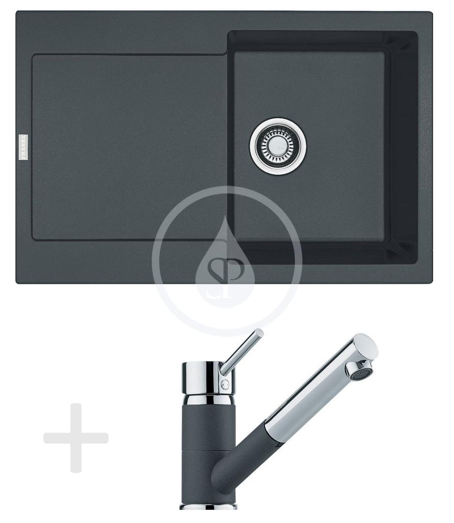 Franke Sety Kuchyňský set G72, granitový dřez MRG 611, grafit + baterie FG 7486, grafit 114.0365.280
