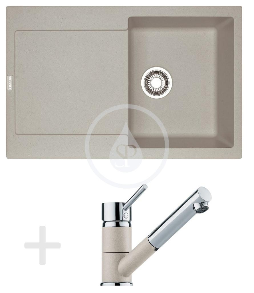 Franke Sety Kuchyňský set G72, granitový dřez MRG 611, sahara + baterie FG 7486, sahara 114.0365.284