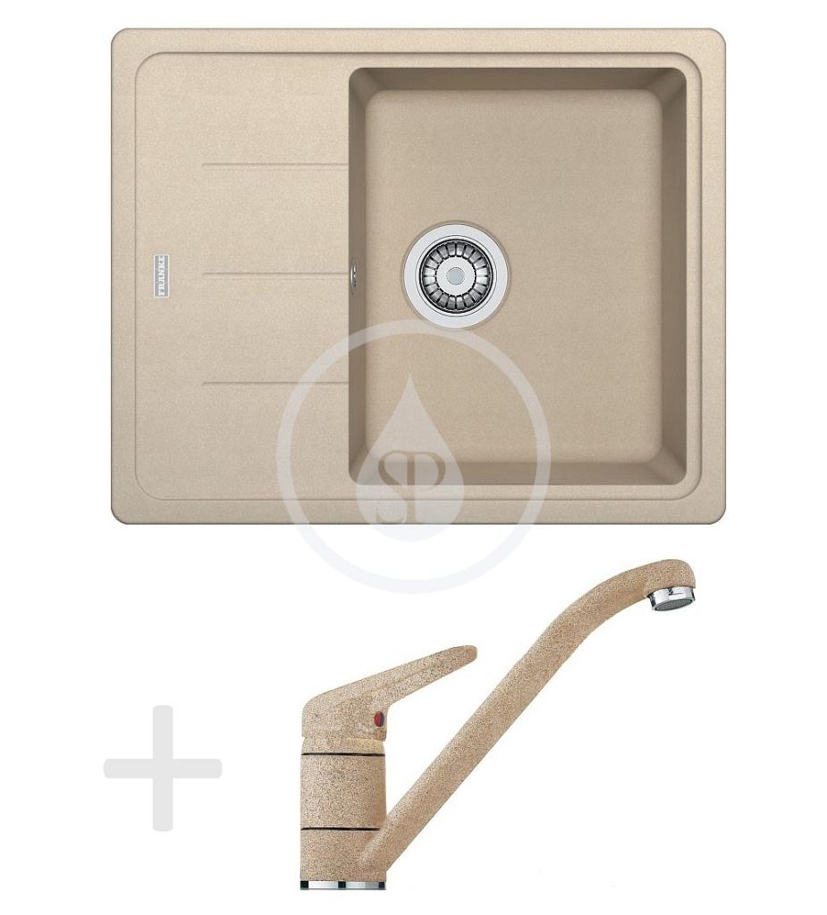Franke Sety Kuchyňský set G66, granitový dřez BFG 611-62, pískový melír + baterie FG 9541, pískový melír 114.0365.145