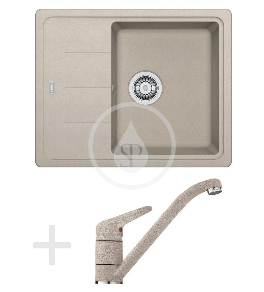 Franke Sety Kuchyňský set G66, granitový dřez BFG 611-62, sahara + baterie FG 9541, sahara 114.0365.146
