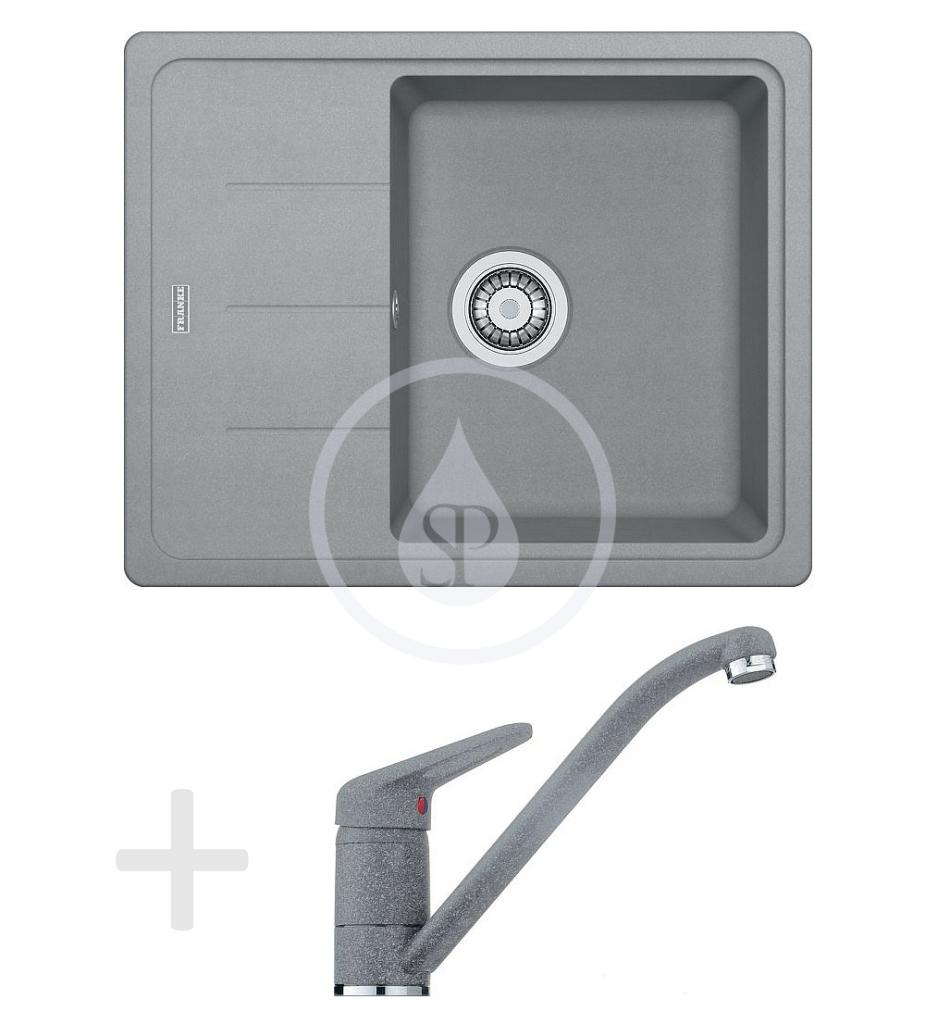 Franke Sety Kuchyňský set G66, granitový dřez BFG 611-62, šedý kámen + baterie FG 9541, šedý kámen 114.0365.148