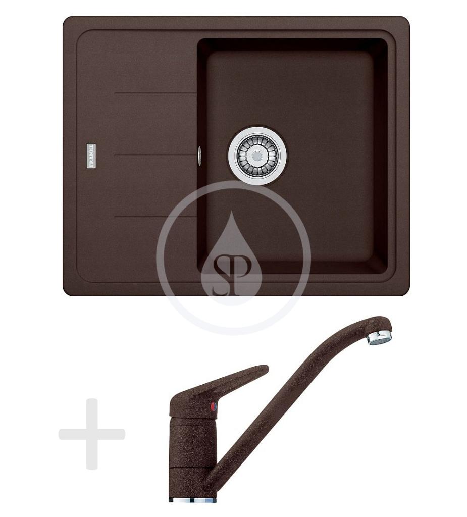 Franke Sety Kuchyňský set G66, granitový dřez BFG 611-62, tmavě hnědá + baterie FG 9541, tmavě hnědá 114.0365.149