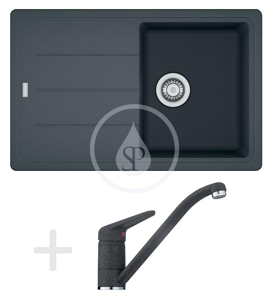 Franke Sety Kuchyňský set G68, granitový dřez BFG 611-78, grafit + baterie FG 9541, grafit 114.0365.165