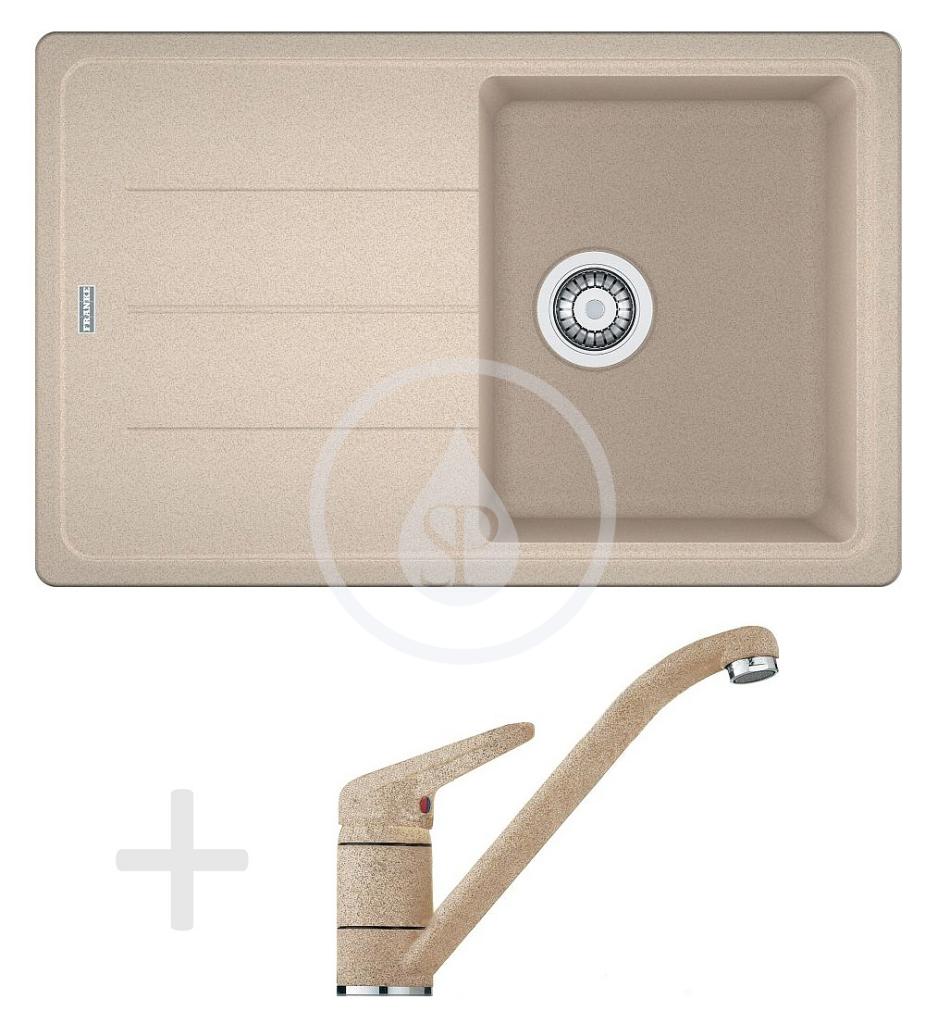 Franke Sety Kuchyňský set G68, granitový dřez BFG 611-78, pískový melír + baterie FG 9541, pískový melír 114.0365.169