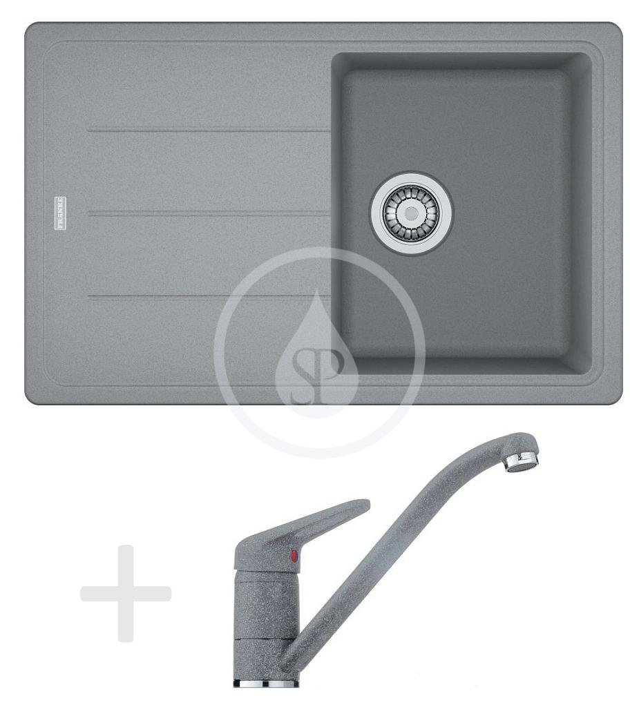 Franke Sety Kuchyňský set G68, granitový dřez BFG 611-78, šedý kámen + baterie FG 9541, šedý kámen 114.0365.189