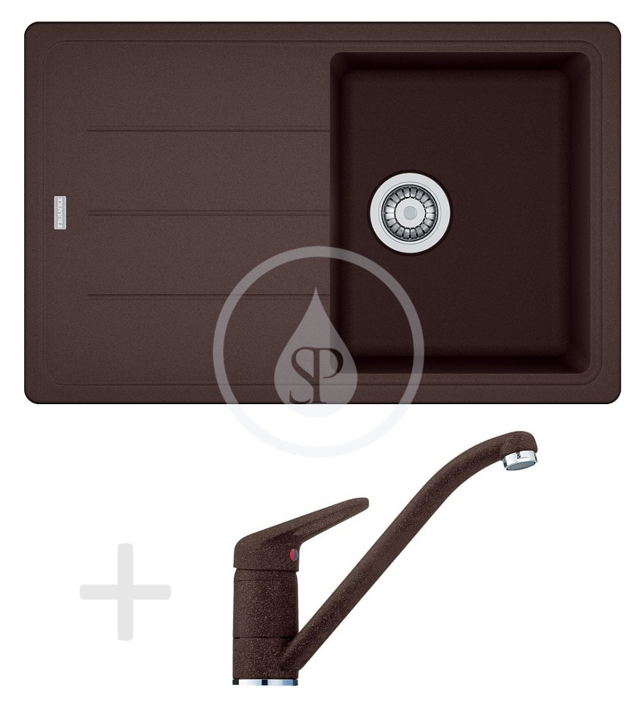 Franke Sety Kuchyňský set G68, granitový dřez BFG 611-78, tmavě hnědá + baterie FG 9541, tmavě hnědá 114.0365.190