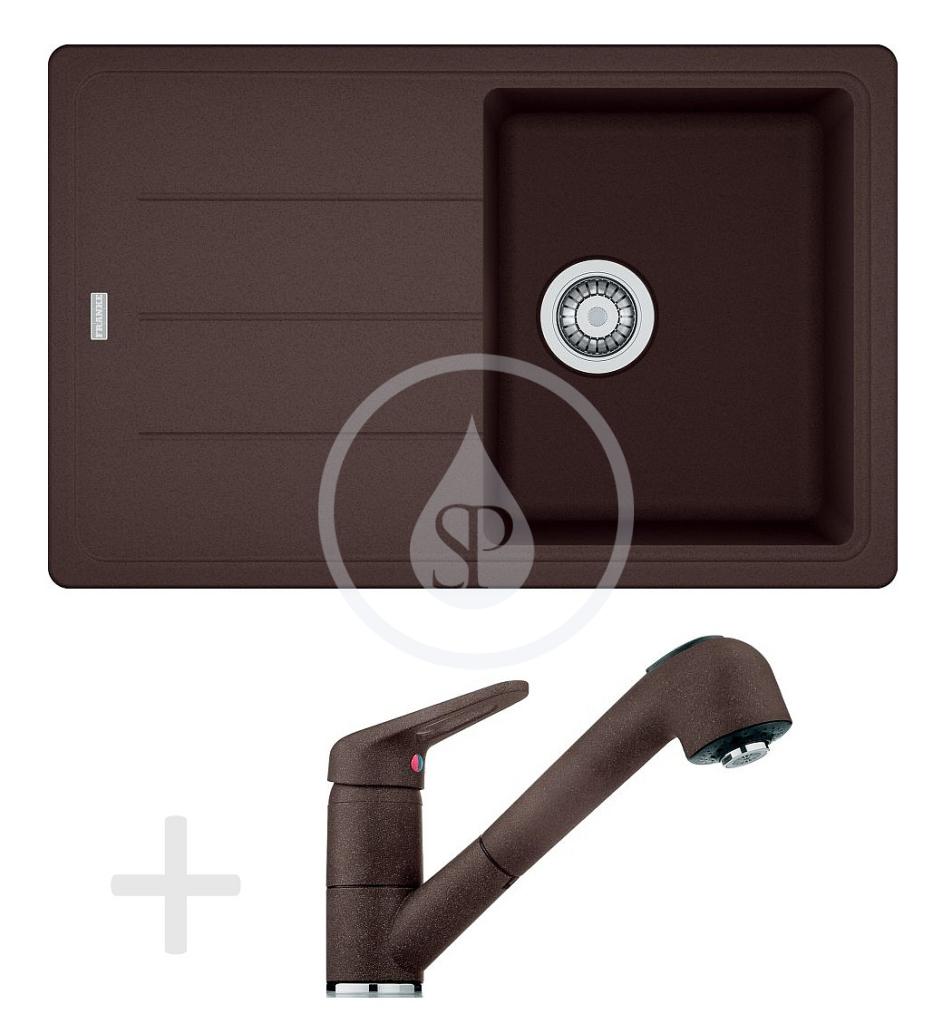 Franke Sety Kuchyňský set G57, granitový dřez BFG 611-78, tmavě hnědá + baterie FG 9547, tmavě hnědá 114.0323.919