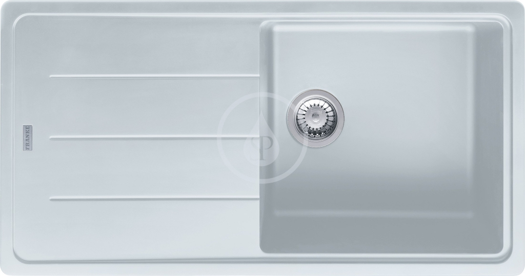 Franke Basis Granitový dřez BFG 611, 970x500 mm, bílá-led 114.0285.303