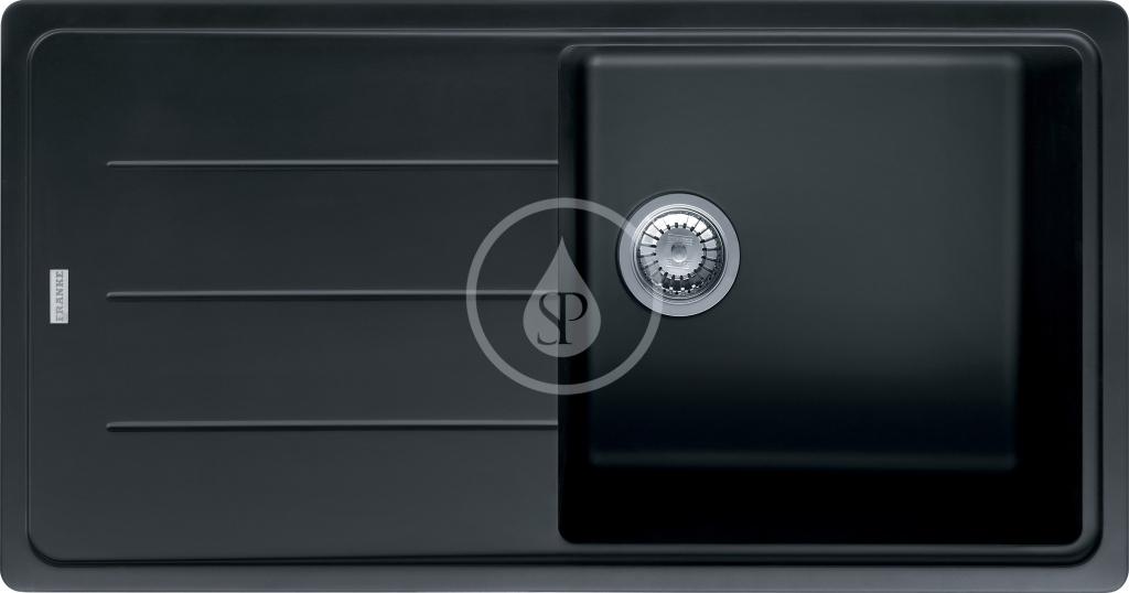 Franke Basis Granitový dřez BFG 611, 970x500 mm, onyx 114.0285.305