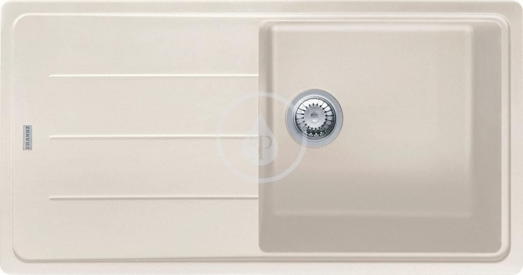 Franke Basis Granitový dřez BFG 611, 970x500 mm, vanilka 114.0285.317