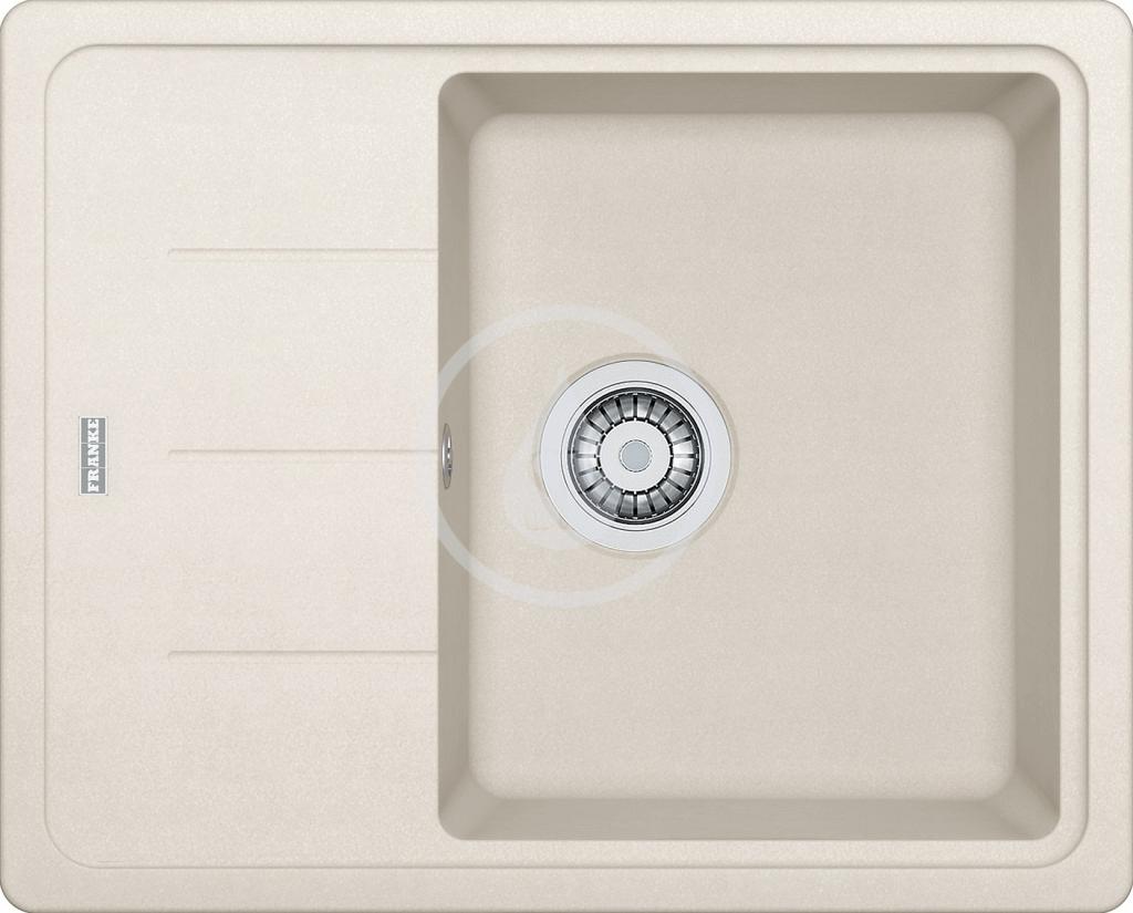 Franke Basis Fragranitový dřez BFG 611-62, 620x500 mm, vanilka 114.0285.121