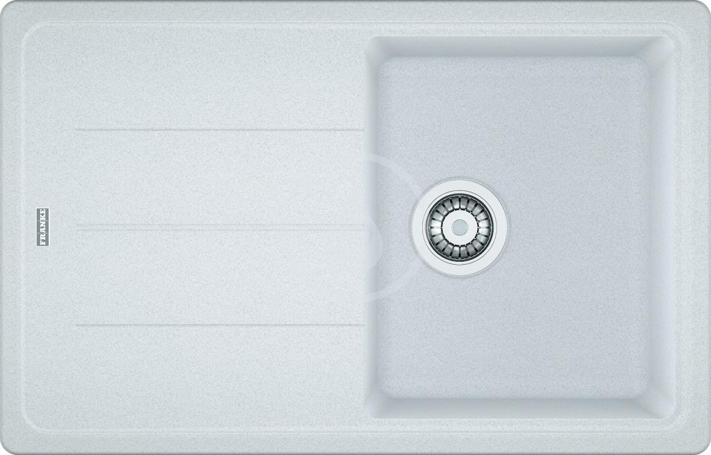 Franke Basis Fragranitový dřez BFG 611-78, 780x500 mm, bílá-led 114.0285.168