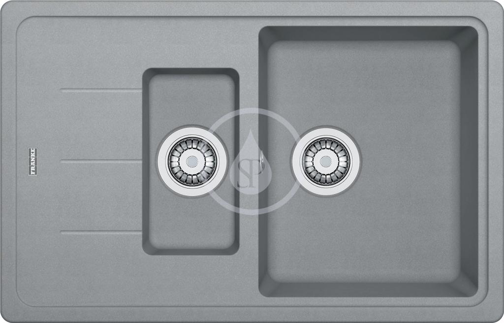 Franke Basis Fragranitový dřez BFG 651-78, 780x500 mm, šedý kámen 114.0285.224