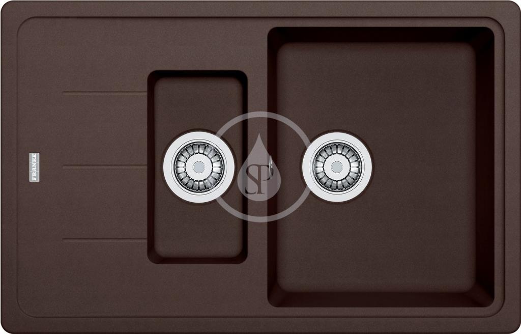 Franke Basis Granitový dřez BFG 651-78, 780x500 mm, tmavě hnědá 114.0285.226