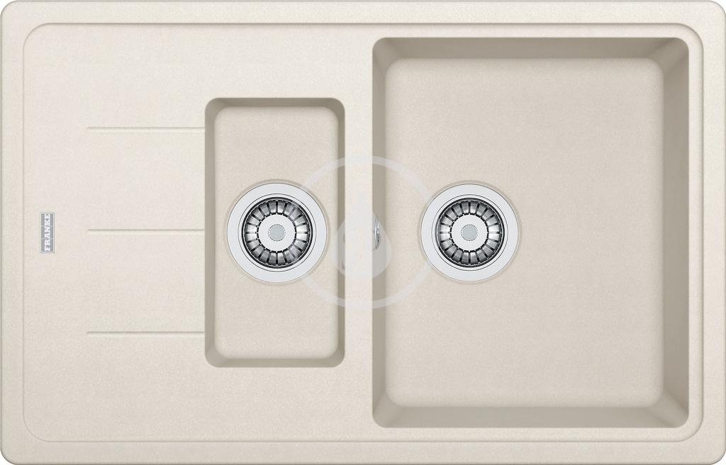 Franke Basis Granitový dřez BFG 651-78, 780x500 mm, vanilka 114.0285.227