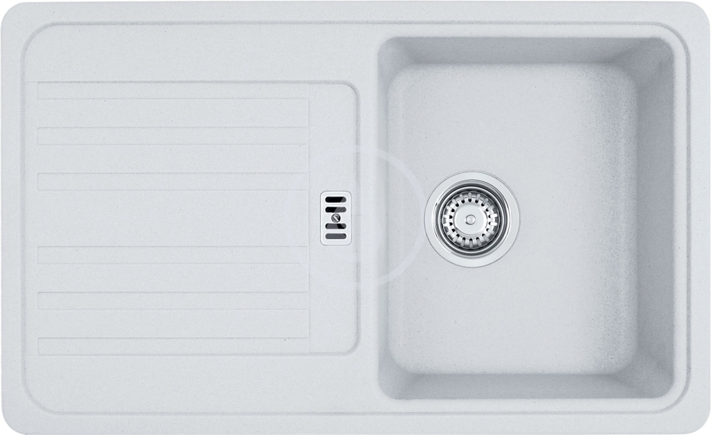 Franke Euroform Fragranitový dřez EFG 614-78, 780x475 mm, bílá-led 114.0120.086