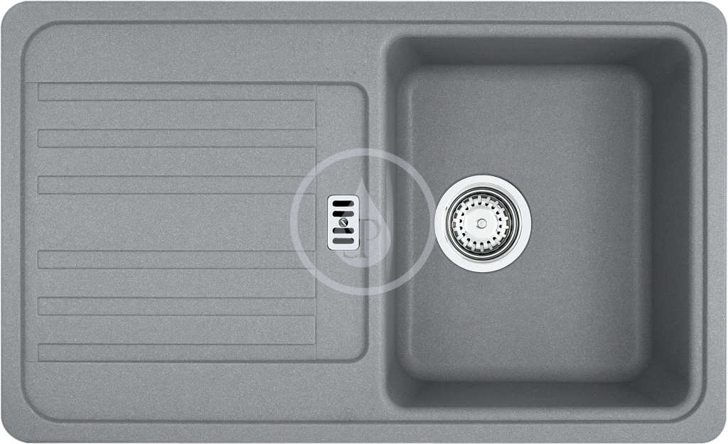 Franke Euroform Fragranitový dřez EFG 614-78, 780x475 mm, šedý kámen 114.0120.090