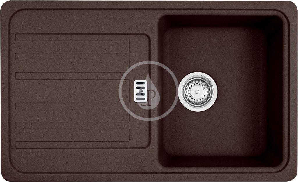 Franke Euroform Granitový dřez EFG 614-78, 780x475 mm, tmavě hnědá 114.0250.533