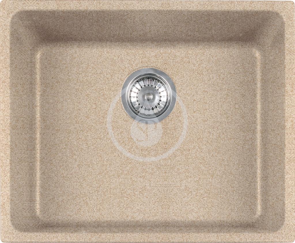 Franke Kubus Granitový dřez KBG 110-50, 540x440 mm, pískový melír 125.0176.654