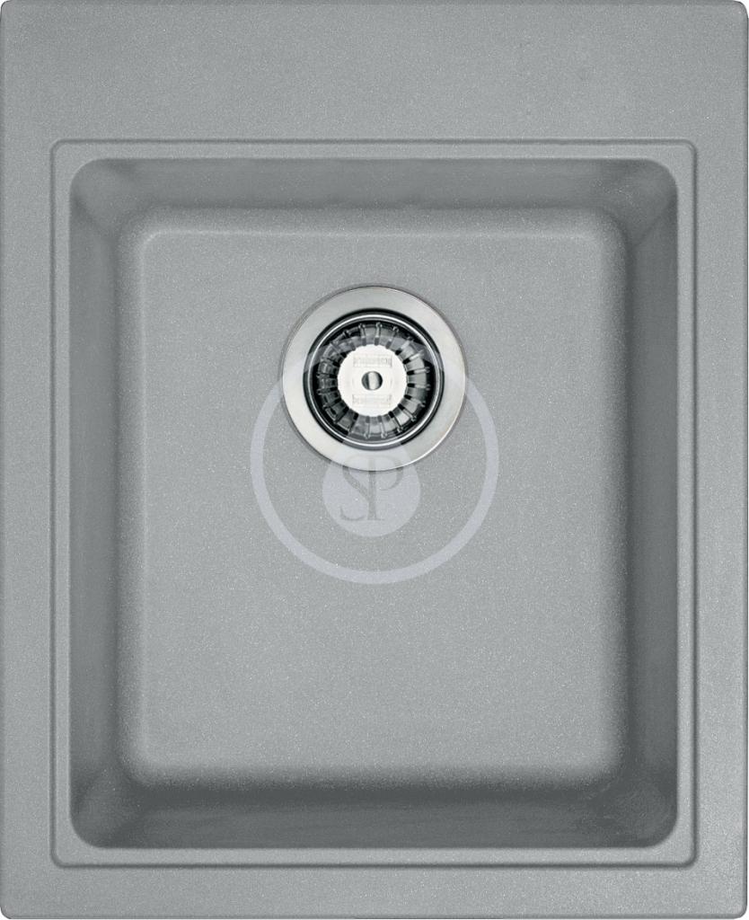 Franke Kubus Granitový dřez KSG 218, 425x520 mm, šedý kámen 114.0284.918