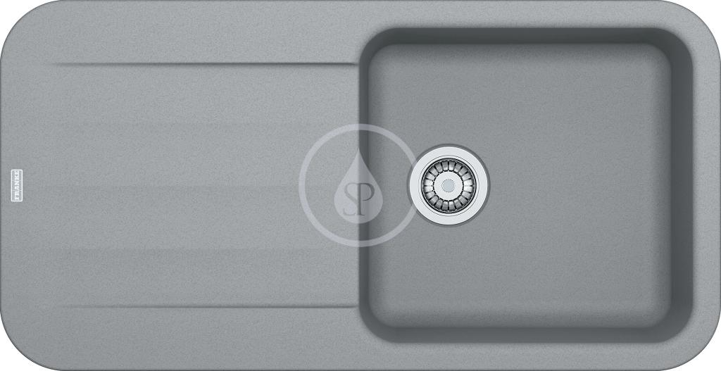 Franke Pebel Granitový dřez PBG 611, 970x500 mm, šedý kámen 114.0286.316