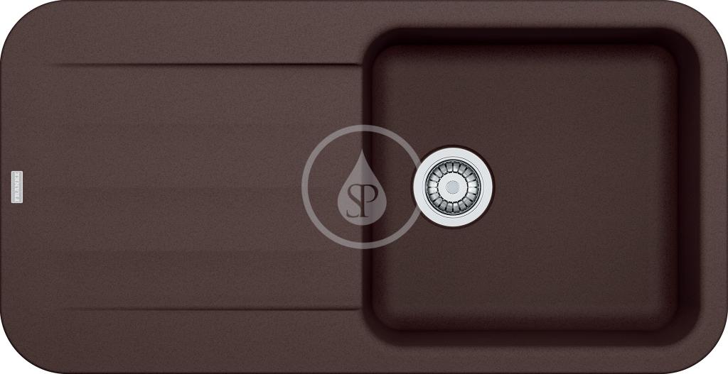 Franke Pebel Granitový dřez PBG 611, 970x500 mm, tmavě hnědá 114.0286.317