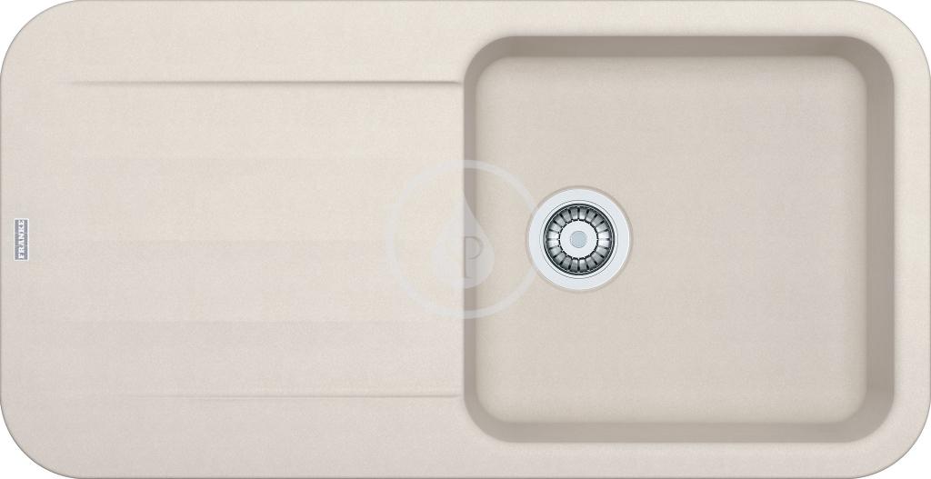 Franke Pebel Granitový dřez PBG 611, 970x500 mm, vanilka 114.0286.319