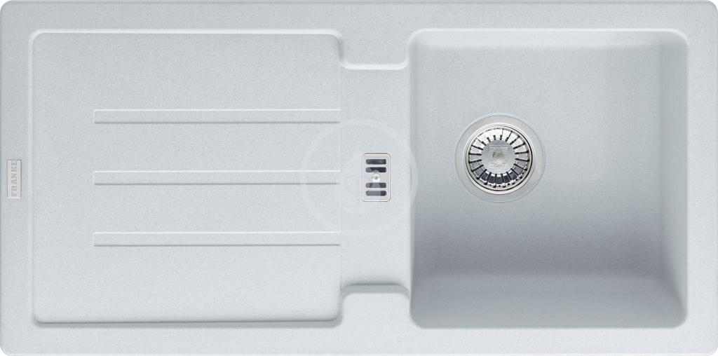 Franke Strata Fragranitový dřez STG 614, 860x435 mm, bílá-led 114.0263.975