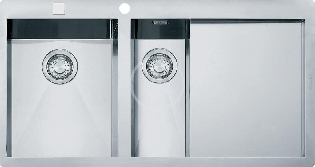 Franke Planar Nerezový dřez PPX 251/651 TL, 1000x512 mm, levý + sifon 127.0203.467