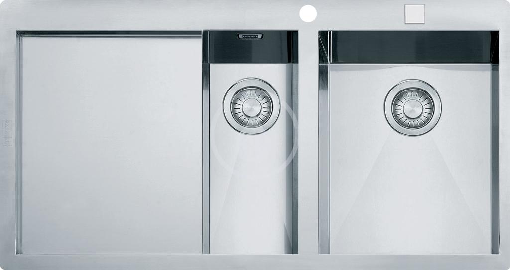 Franke Planar Nerezový dřez PPX 251/651 TL, 1000x512 mm, pravý + sifon 127.0203.468