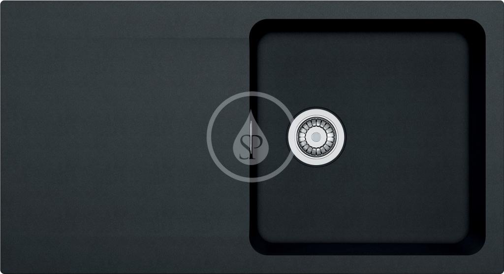 Franke Orion Tectonitový dřez OID 611, 940x510 mm, černá 114.0288.543