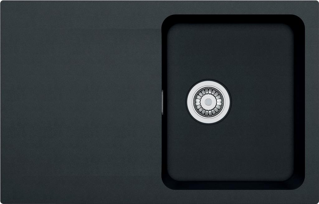 Franke Orion Tectonitový dřez OID 611-78, 780x500 mm, černá 114.0288.588