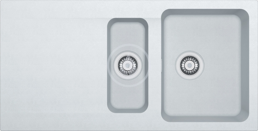 Franke Orion Tectonitový dřez OID 651, 1000x510 mm, bílá 114.0288.591