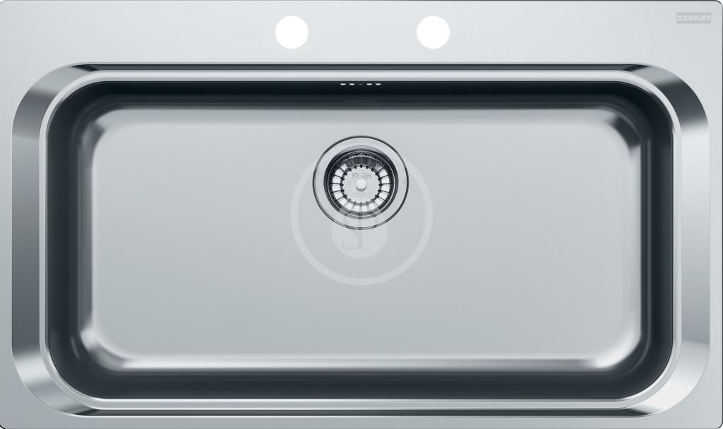 Franke Acquario Nerezový dřez AEX 610, 860x510 mm + sifon 101.0198.559