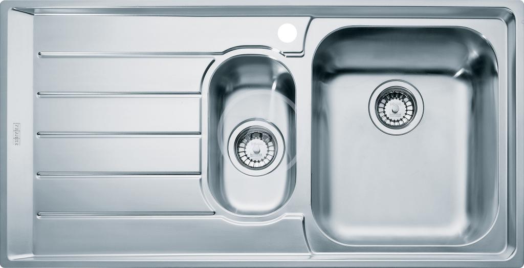 Franke Neptun Nerezový dřez NEX 251/7, 1004x514 mm, pravý + sifon 127.0059.717