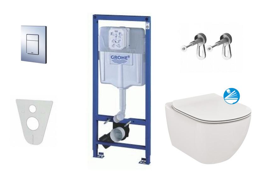 Grohe Rapid SL Sada pro závěsné WC + klozet a sedátko Ideal Standard Tesi 38528SET-KE