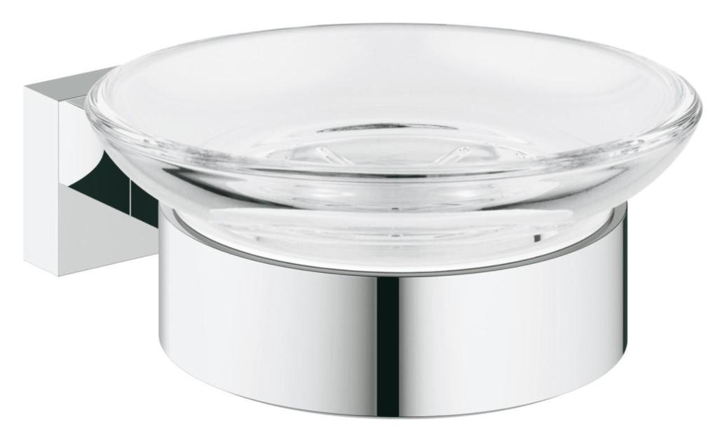 Grohe Essentials Cube Mýdlenka s držákem, chrom 40754001