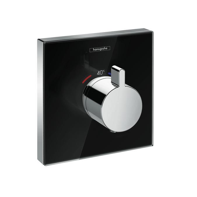 Hansgrohe Shower Select Glass Sprchová podomítková Highflow termostatická baterie, černá/chrom 15734600