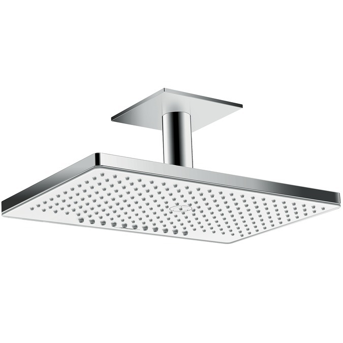 Hansgrohe Rainmaker Select Horní sprcha 460 2jet se stropním přípojem 100 mm, bílá/chrom 24004400