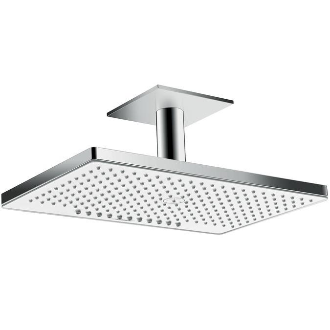 Hansgrohe Rainmaker Select Horní sprcha 460 2jet EcoSmart 9 l/ min se stropním přípojem 100 mm, bílá/chrom 24014400
