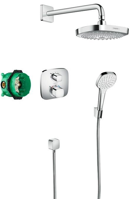 Hansgrohe Croma Select E Designová sprchová souprava Ecostat E, chrom 27294000