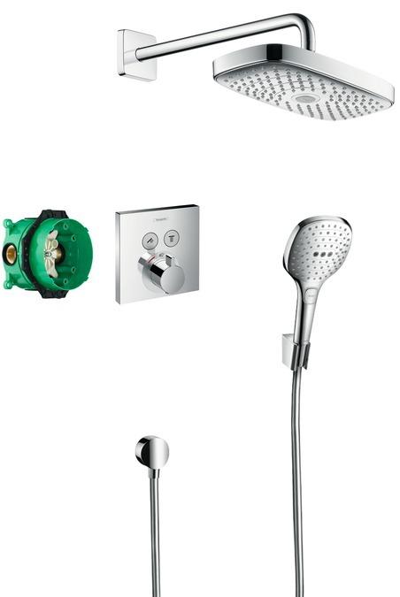 Hansgrohe Raindance Select E Designová sprchová souprava ShowerSelect, chrom 27296000
