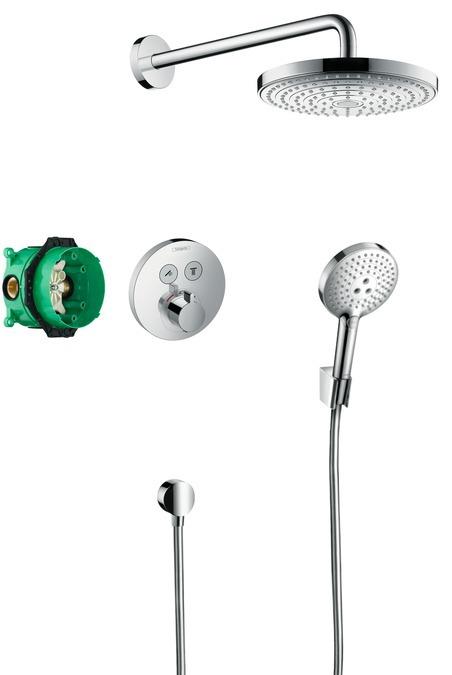 Hansgrohe Raindance Select E Designová sprchová souprava ShowerSelect, chrom 27297000