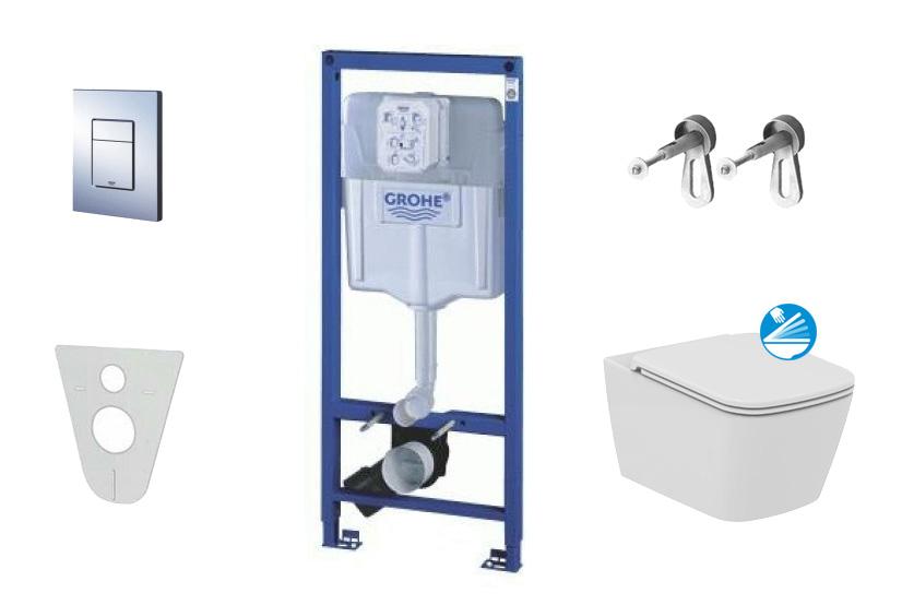 Grohe Rapid SL Sada pro závěsné WC + klozet a sedátko Villeroy & Boch 38528SET-KG