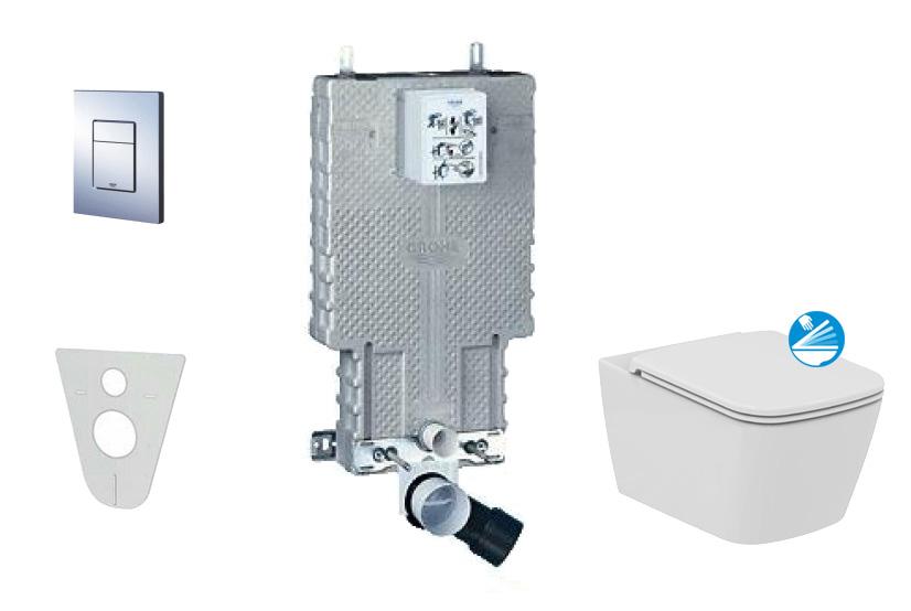 Grohe Uniset Sada pro závěsné WC + klozet a sedátko Ideal Standard Mia 38643SET-KG