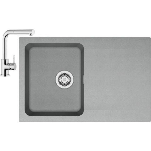 Franke Sety Kuchyňský set T32, tectonitový dřez OID 611-78, šedá + baterie FN 0147.031, chrom 114.0426.214