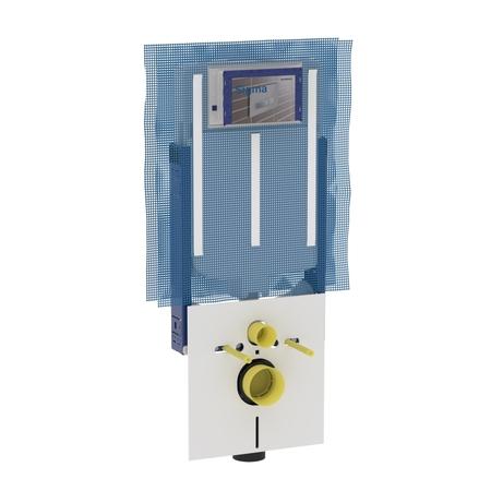 Geberit Montážní prvek Kombifix pro závěsné WC, s nádržkou Sigma 8 cm, s přípravou pro odsávaní zápachu 110.791.00.1