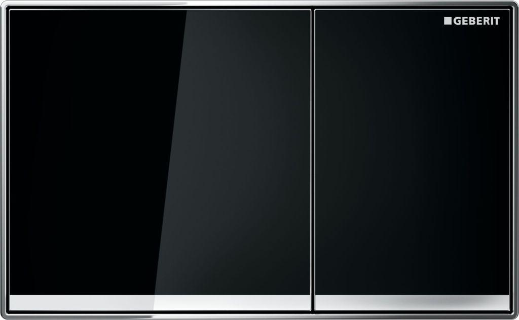 Geberit Ovládací tlačítko Sigma60, černé sklo 115.640.SJ.1