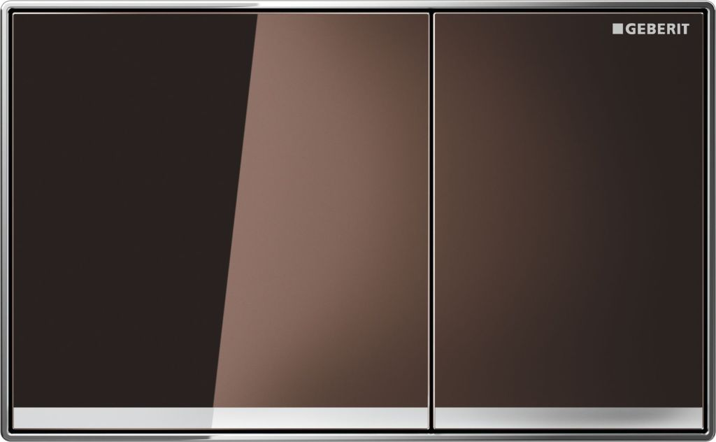Geberit Ovládací tlačítko Sigma60, hnědé sklo 115.640.SQ.1