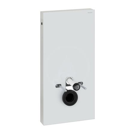 Geberit Monolith Sanitární modul pro závěsné WC s přímým hrdlem, černé sklo/hliník, připojení vody dole 131.021.SJ.5
